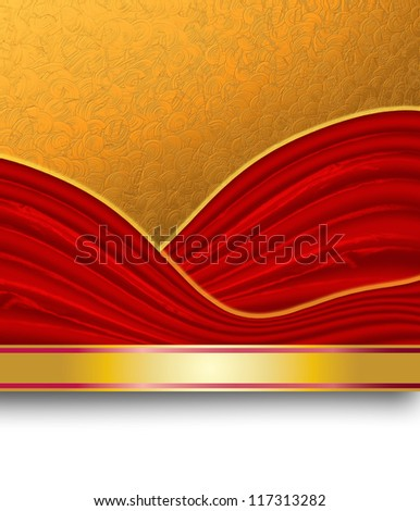 Abstract gold and red background composition.