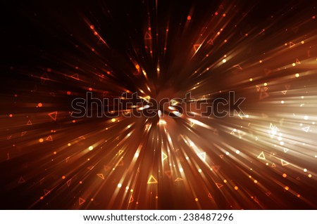 abstract gold background. explosion star with gloss and lines