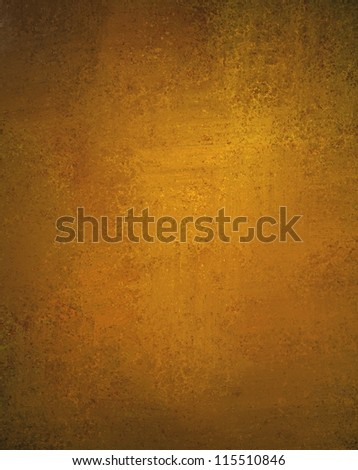 abstract gold background or Christmas background with bright center spotlight and black vignette border frame with vintage grunge background texture gold paper layout design colorful graphic art - stock photo
