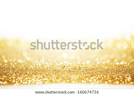 Abstract gold background with white copy space - stock photo
