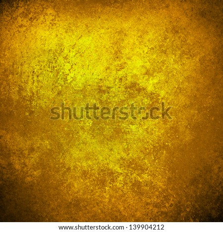 abstract gold background yellow warm colors black corners vintage grunge background texture rough distressed sponge design texture, yellow brochure paper, web template background paper, gold luxury