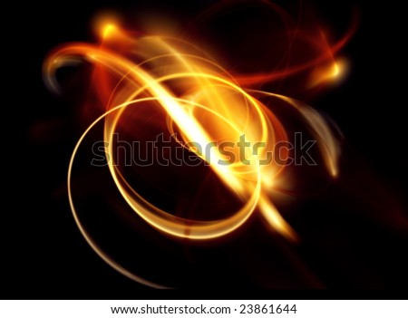 Abstract gold blur background on black - stock photo