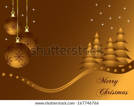 Abstract gold christmas baubles background with room for text - stock photo