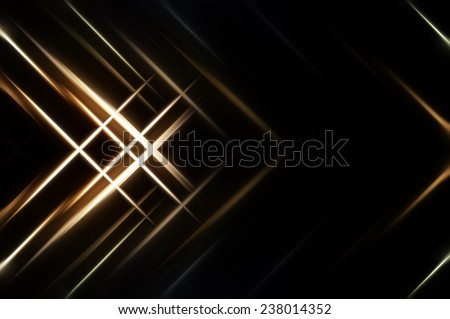 Abstract gold fractal background with various - stock photo