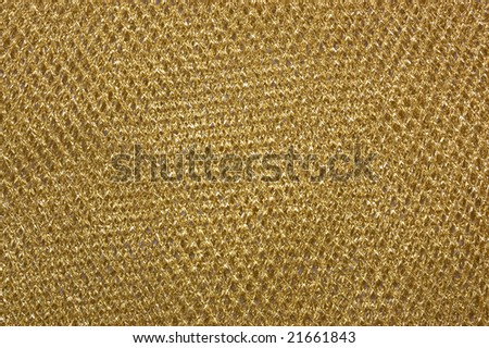 Abstract gold pattern background, grid from fabric - stock photo