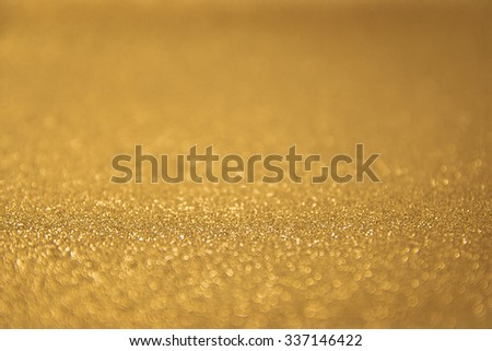 abstract gold twinkled christmas background - stock photo