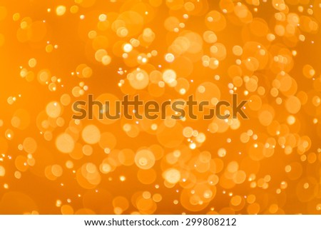 Abstract Golden bokeh background - stock photo