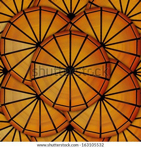 Abstract golden circular framework pattern.  - stock photo