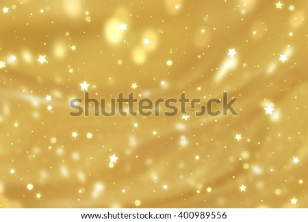 Abstract golden elegant background with glitter and waves - stock photo