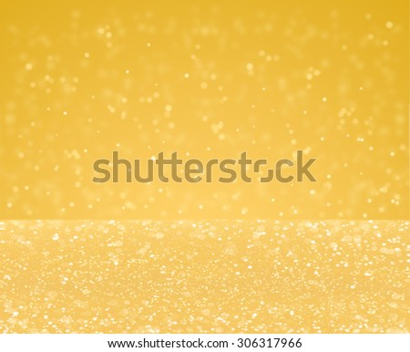 Abstract golden glitter vintage lights background - stock photo