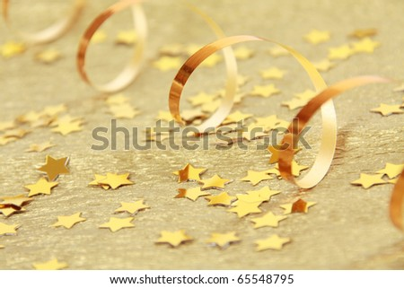Abstract golden ribbon holidays background
