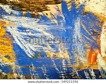 abstract gouache painting  - stock photo