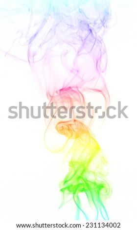 Abstract gradient fume patterns over the white background - stock photo