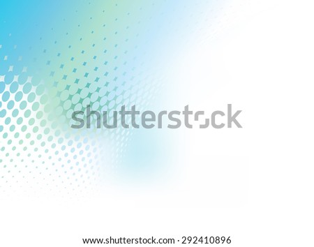 Abstract gradient pastel blue green background with dot swirl pattern overlay. Plenty of copy space. Perfect any communication art. - stock photo