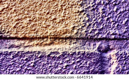 Abstract graffiti image with textured brickwork - stock photo