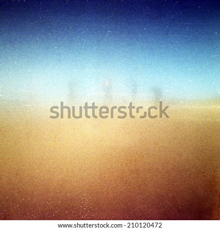 Abstract grained grunge medium format film strip texture background - stock photo