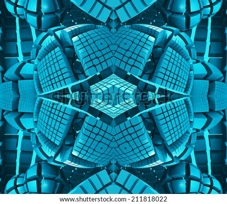 abstract graphic illustration - stock photo