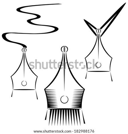 Abstract graphic pen. eps10 - stock photo