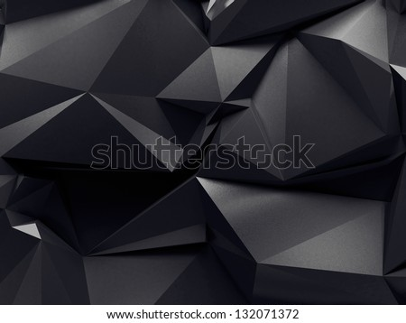 abstract graphite crystal background - stock photo