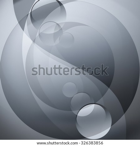 abstract gray background with yin yang forms - stock photo