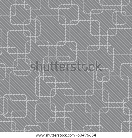 abstract gray rounded square background (tileable pattern) - stock photo