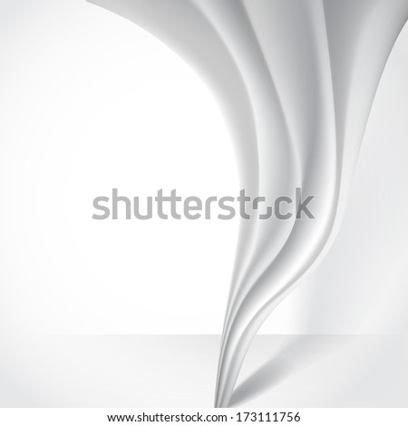 Abstract Gray Wavy Background.