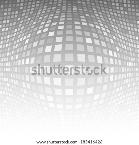 Abstract Gray - White Technology Background, raster illustration