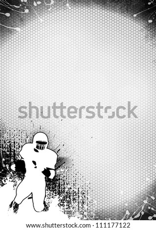 Abstract grayscale american football background with space - stock photo