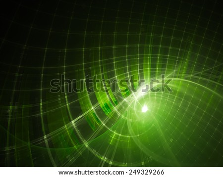 Abstract green and black background - stock photo