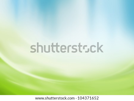 Abstract green and blue background with copy space - stock photo