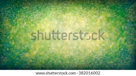 abstract green and yellow blur  light bokeh background, lights , defocused background vintage
