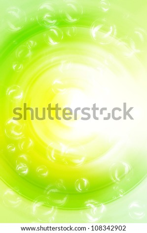 Abstract green and yellow with bubble background. - stock photo