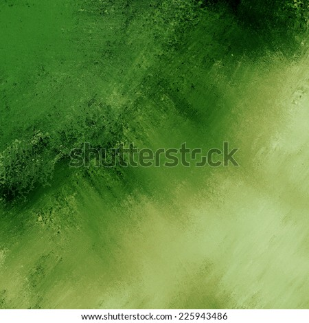 abstract green background black faded stripe of dark messy grunge paint on green washed out color border corner