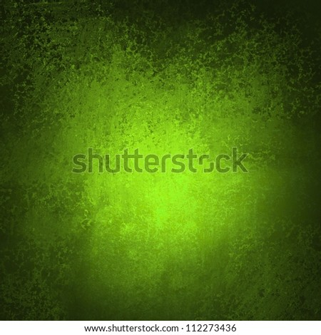 abstract green background black vignette frame on border with vintage grunge background texture with old faded edges and center spotlight for elegant Christmas background or web template backdrop - stock photo