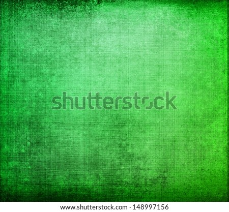 abstract green background canvas texture with brush strokes vintage grunge background texture, distressed black vignette border, elegant Christmas background, web template design idea or brochure ad - stock photo