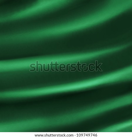 abstract green background cloth illustration of dark green folds creases in silky velvet or satin material for elegant Christmas background decoration design for dark luxurious background web template - stock photo