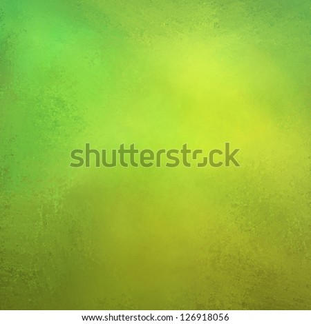 abstract green background, gold yellow vintage grunge background texture design with elegant antique paint on wall illustration for Christmas paper or web background template, light bright green color - stock photo