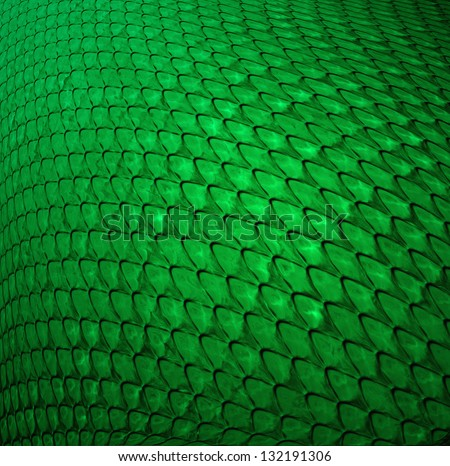 abstract green background scale texture design digital concept illustration, faux lizard reptile dragon dinosaur or fish scales, contemporary glossy shiny green background, cool futuristic pattern - stock photo
