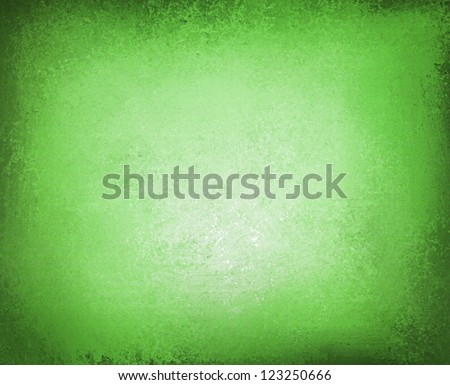 abstract green background spring color, paper design layout, dark black vignette frame border, soft faded white center, old vintage background texture style, gradient green material, distressed paint - stock photo