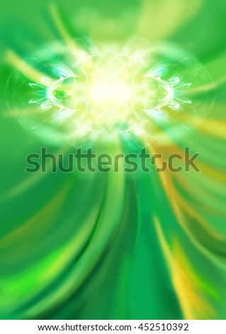 Abstract green background with fractal - stock photo