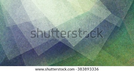 abstract green blue and yellow background, ultra fine white textured squares and blocks in random overlapping pattern with copyspace - stock photo