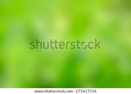 abstract green blurred natural background - stock photo
