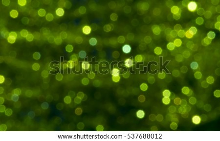 Abstract green bokeh background.