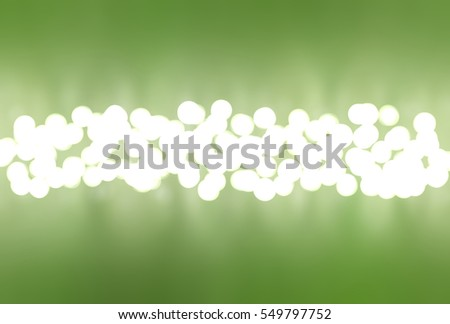 Abstract green bokeh circles. Glamour background illustration with particles.