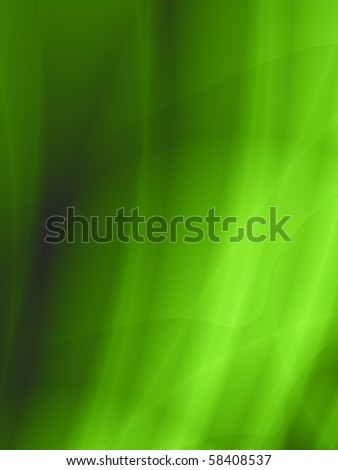 Abstract green flow background - stock photo