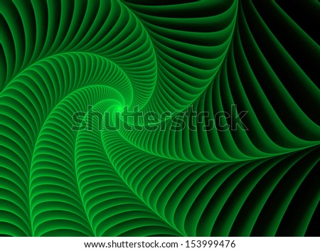 abstract green fractal background - stock photo