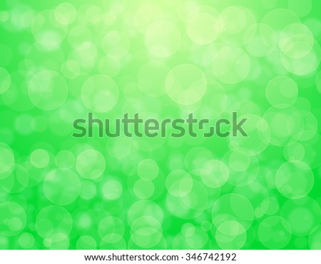 Abstract green holiday background bokeh effect - stock photo