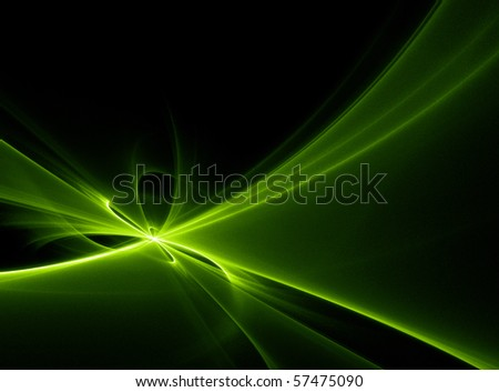 Abstract green lights - stock photo