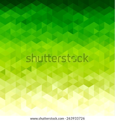 Abstract green mosaic background - raster version - stock photo