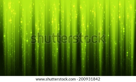 Abstract green neon background with circles and lines